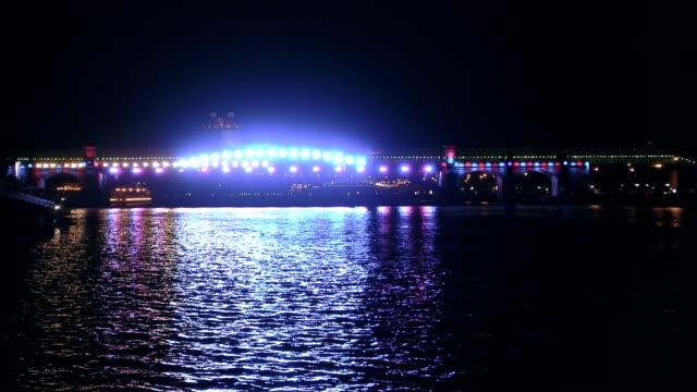 Illuminated bridge and light show