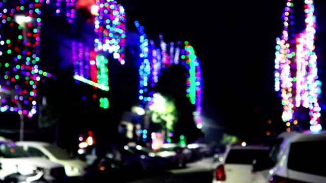 illuminated city street on diwali festival, india - decoration stock videos & royalty-free footage