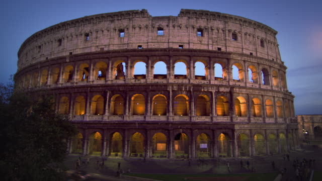 illuminated colosseum at night - arch of constantine stock videos and b-roll footage