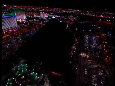 illuminated famous casino hotels las vegas - casino stock videos & royalty-free footage