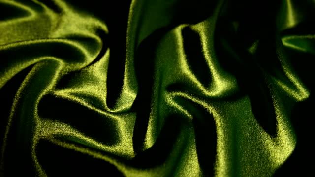Illuminated green satin