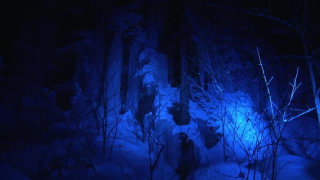 illuminated icefall, aomori, japan - icefall stock videos and b-roll footage