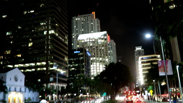 illuminated miami - low angle view stock videos & royalty-free footage