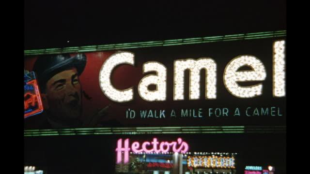1954 MS PAN Illuminated neon sign, New York City, New York, United States