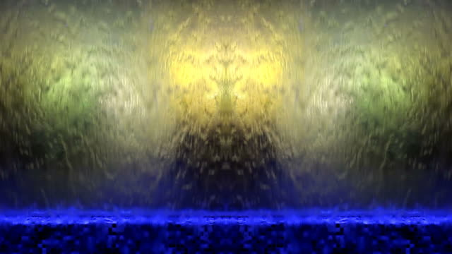 illuminated waterfall - abstract background - surrounding wall stock videos and b-roll footage