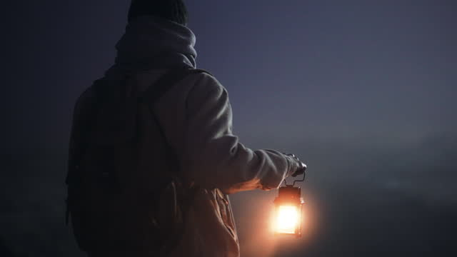 illuminating his path to the unknown - mystery stock videos & royalty-free footage