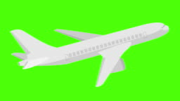 Illustration of animation plane [LOOP] The magic of paper folding background greenscreen