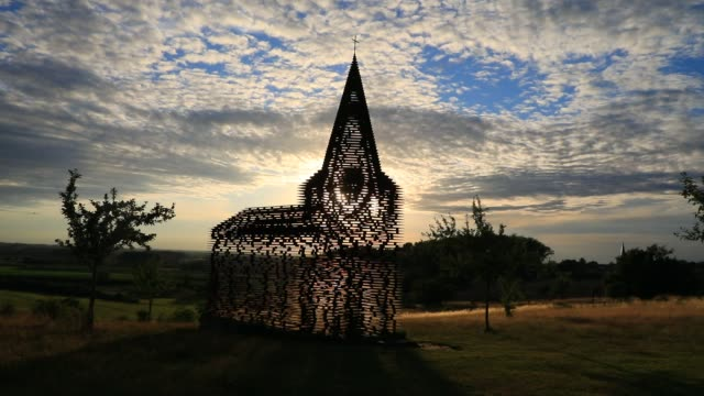 illustration picture shows the 'reading between the lines' art installation by gijs van vaerenbergh on july 9, 2020 in borgloon, belgium. this piece... - western european culture stock videos & royalty-free footage