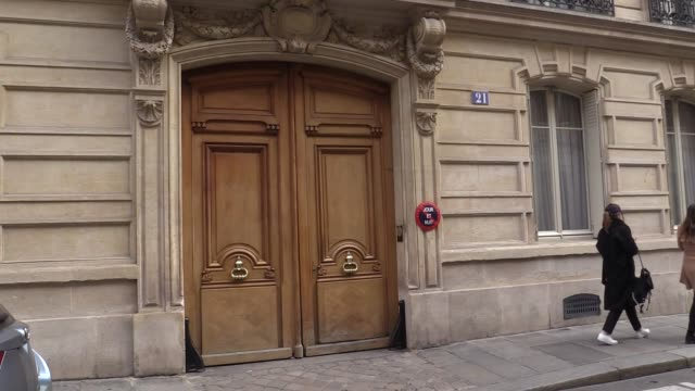 illustrations of karl lagerfeld headquarters in saint germain 21 rue saint guillaume in paris celebrated fashion designer karl lagerfeld died in... - karl lagerfeld stock videos and b-roll footage