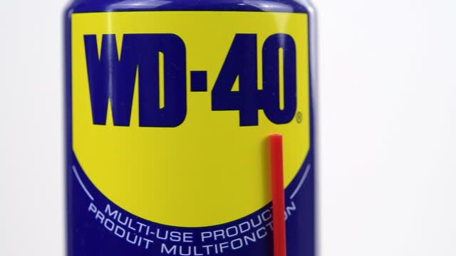 illustrative editorial of a spray of wd-40 lubricant container on march 18, 2021; in toronto, ontario canada, - white background stock videos & royalty-free footage