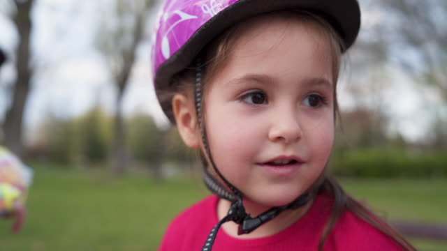 im' ready for another adventure! - cycling helmet stock videos & royalty-free footage