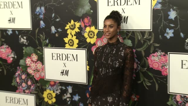 Imaan Hammam at HM x ERDEM Runway Show Party at The Ebell Club of Los Angeles on October 18 2017 in Los Angeles California