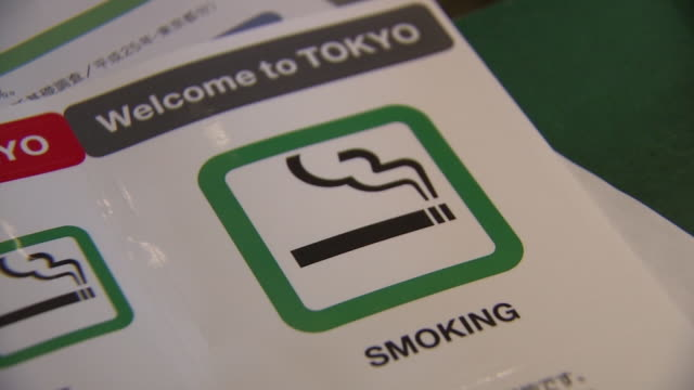 image of smoking, tokyo, japan - sticker stock videos and b-roll footage