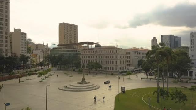vídeos de stock, filmes e b-roll de imagem aérea praça mauá - rio de janeiro - praça