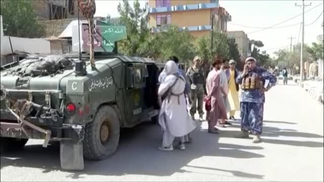 images of afghan troops in badghis after the taliban launched a major assault on the provincial capital qali i naw, the first since the us military... - army stock videos & royalty-free footage