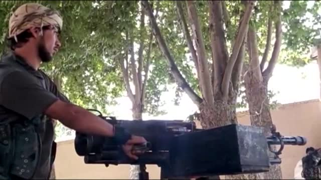images of anti-taliban militia forces in the farkhar district of takhar province in north afghanistan where insurgents have captured large swathes of... - army stock videos & royalty-free footage