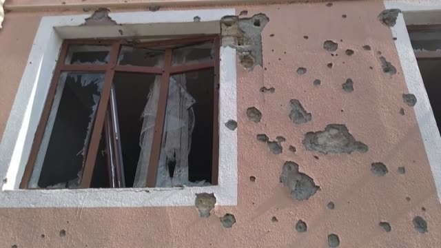 images of damaged buildings from the desert shikharkh settlement in the tartar district that borders nagorno-karabakh - plaque bacteria stock videos & royalty-free footage