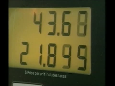 images of fuel pumps and gas stations / united states - ガス料金点の映像素材/bロール