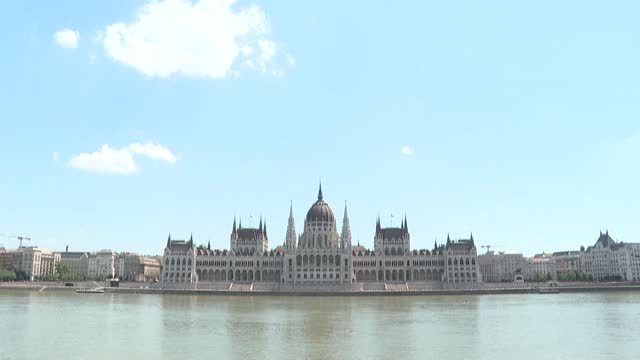 images of iconic budapest sites, including the hungarian parliament building, heroes' square and the puskas arena, where france will face hungary on... - hungary stock videos & royalty-free footage
