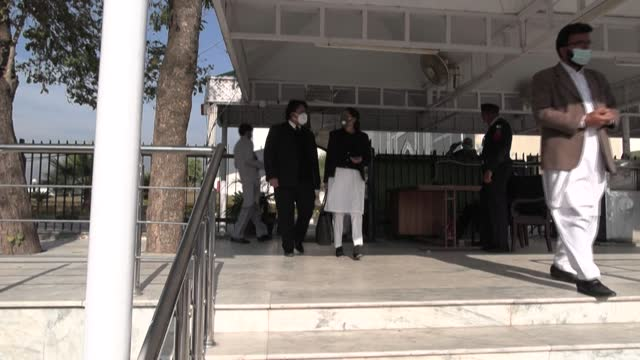 images of lawyers outside pakistan's supreme court after it dismissed a series of appeals against the acquittal of the british-born militant... - daniel pearl stock videos & royalty-free footage
