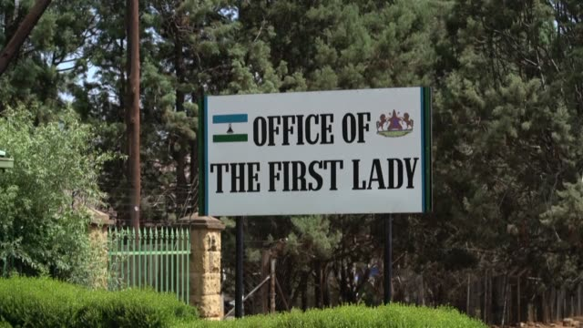 images of lesotho's palace of justice court of appeal and office of the first lady as police charge first lady maesaiah thabane with murder for her... - brutal killing stock videos & royalty-free footage