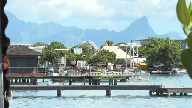 images of the capital of french polynesia, papeete, and tahiti island as french president emmanuel macron arrives on his first visit to this south... - french polynesia stock videos & royalty-free footage
