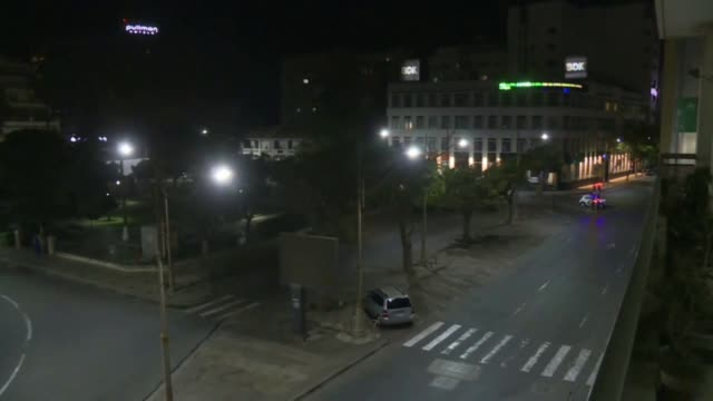 stockvideo's en b-roll-footage met images of the empty streets of dakar after president macky sall announced a curfew for the whole country one month ago on march 23rd to fight the... - 18 23 months