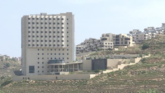 vídeos de stock, filmes e b-roll de images of the istishari arab hospital near ramallah in the occupied west bank where palestinian president mahmud abbas is hospitalised a day after... - ramallah