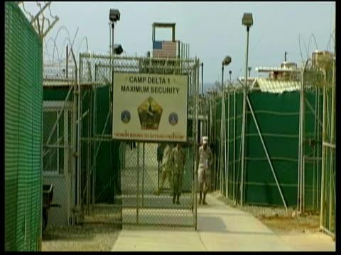 images of the maximum security camp delta / guatanamo bay cuba - アナモルフィック点の映像素材/bロール