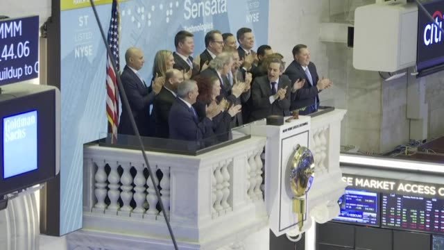 images of the ringing of the opening bell at the new york stock exchange as wall street stocks bounce recovering some of the losses from the prior... - recovery stock videos & royalty-free footage