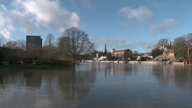 images of the river ouse in bedford as storm bella brings rain and high winds to the uk - river ouse stock videos & royalty-free footage