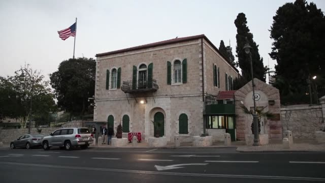 images of the us consulate in jerusalem after us secretary of state mike pompeo announced that the consulate general a separate office which handled... - jerusalem stock videos & royalty-free footage