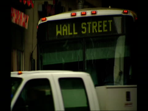 stockvideo's en b-roll-footage met images of wall street / manhattan new york - 2008