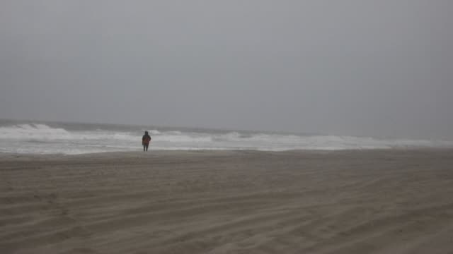 images show rough seas and winds picking up speed at north myrtle beach in south carolina as tropical storm isaias is set to regain hurricane... - after life stock videos & royalty-free footage