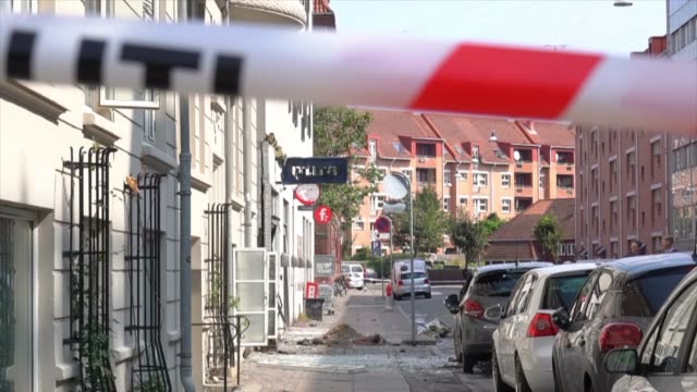 images show the damage caused by an explosion that rocked a copenhagen police station in the early hours saturday causing damage but no injuries just... - oresund region stock videos and b-roll footage