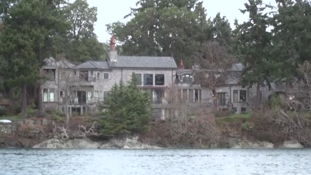 images show the waterfront mansion in north saanich on vancouver island in canada where britain's prince harry and his wife meghan markle are... - image stock videos & royalty-free footage