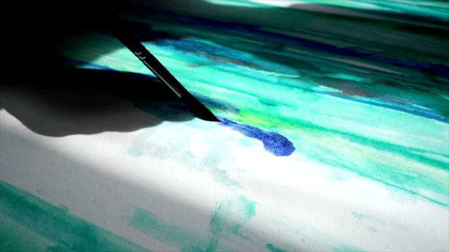 imagination in action - oil paint stock videos and b-roll footage
