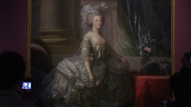 imagine being immersed in versailles and marie antoinette's world on the 52nd floor of a glass and steel tokyo tower a major exhibition retracing her... - versailles video stock e b–roll