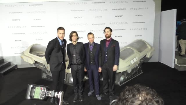 imagine dragons at the passengers los angeles premiere at regency village theatre on december 14 2016 in westwood california - regency village theater stock videos and b-roll footage