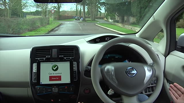 imagine taking on the drive to work blissfully unaware of the outside world sweeping past your window that's just the technology that's being tested... - oxfordshire stock videos & royalty-free footage