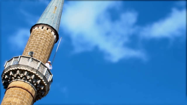 imam calling for pray on minaret - pilgrimage stock videos & royalty-free footage