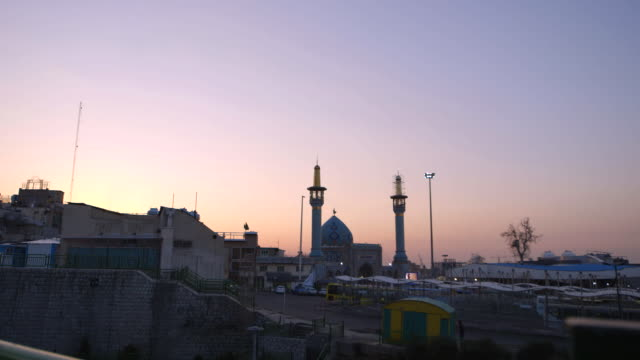 imamzadeh saleh, a mosque in teheran - minaret stock videos & royalty-free footage