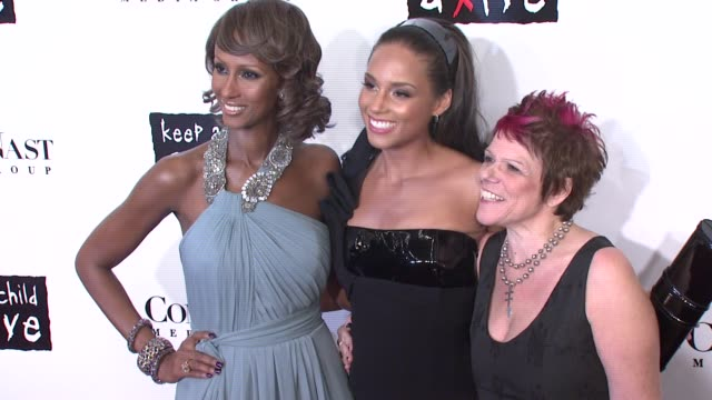 iman, alicia keys, and leigh blake at the conde nast media group presents the 4th annual 'black ball' concert for 'keep a child alive' arrivals at... - conde nast media group stock videos & royalty-free footage