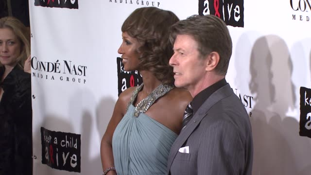 Iman and David Bowie at the Conde Nast Media Group Presents the 4th Annual 'Black Ball' Concert for 'Keep A Child Alive' arrivals at the Hammerstein...