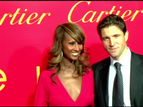 Iman and Frederic De Narp President and CEO Cartier NA at the Cartier and Interview Magazine Celebration of Love at the Cartier Mansion in New York...
