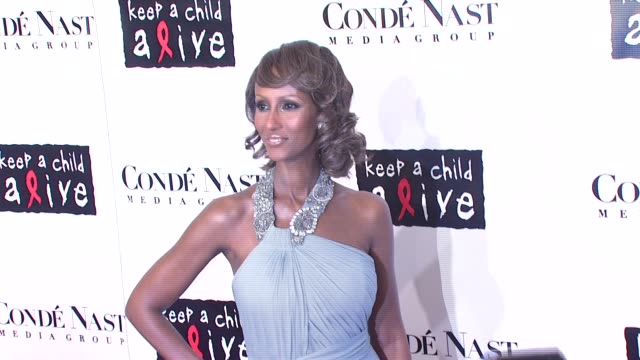 iman at the conde nast media group presents the 4th annual 'black ball' concert for 'keep a child alive' arrivals at the hammerstein ballroom in new... - conde nast media group stock videos & royalty-free footage