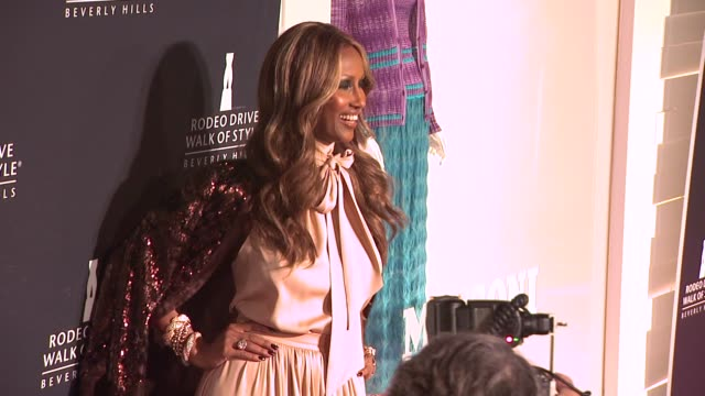 iman at the iman and missoni honored with rodeo drive walk of style at beverly hills ca - missoni stock videos & royalty-free footage