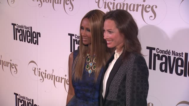 Iman Christy Turlington at Conde Nast Traveler Celebrates 'The Visionaries' And 25 Years Of Truth In Travel in New York 09/18/12