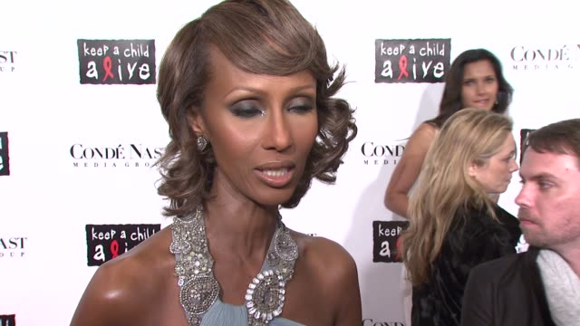 Iman on why she decided to get involved with the 'Keep A Child Alive' organization why she feels Bono deserves to be honored and is wearing Monique...