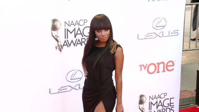 stockvideo's en b-roll-footage met imani hakim at the 46th annual naacp image awards - arrivals at pasadena civic auditorium on february 06, 2015 in pasadena, california. - pasadena civic auditorium